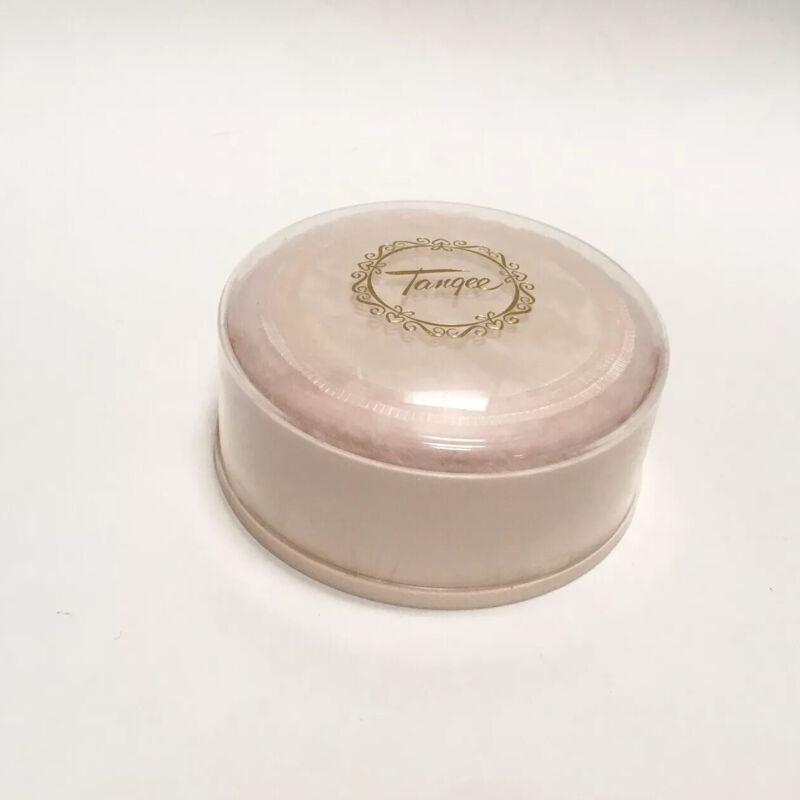 Vintage Tangee Dusting Powder Pink Plastic Box With Puff Unused Bath Fragrance