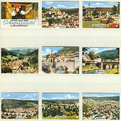 9er Streichholzetikettenserie 46 - Gruß aus dem Schwarzwald (Nagoldtal)
