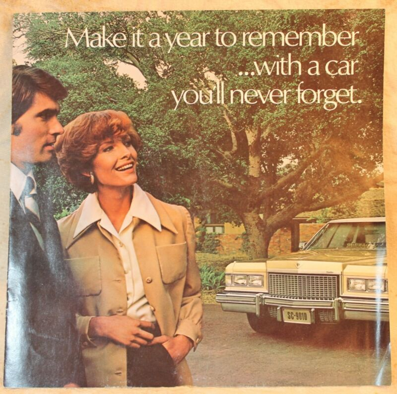 Vintage 1975 Cadillac Range Sales Brochure Manual USA Print