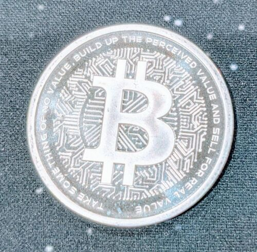 1 oz Bitcoin Silver Shield Crypto Series .999 silver With COA