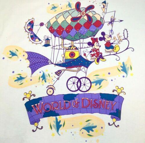 Walt Disney World World of Disney Grand Opening Crew T Shirt 1996 90s XXL Mickey