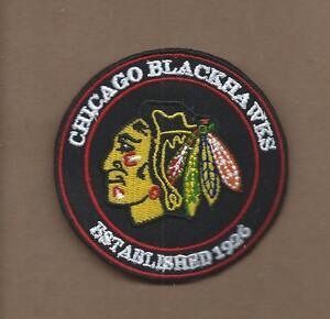 NEW 3 INCH CHICAGO BLACKHAWKS ESTABLISHED 1926 IRON ON PATCH FREE SHIPPING