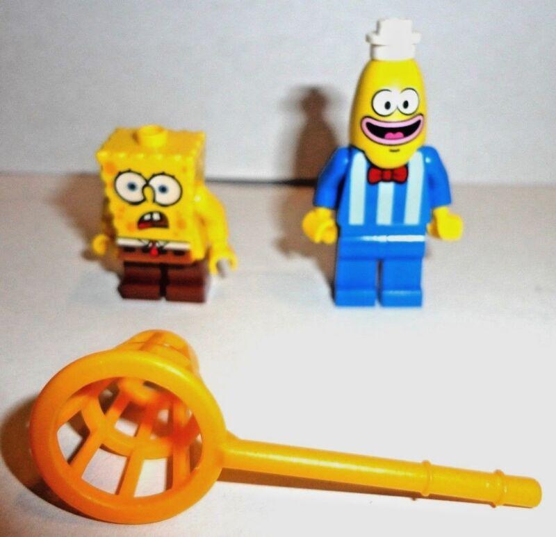 Lime Green Head Modified SpongeBob Bus Driver LEGO Minifig