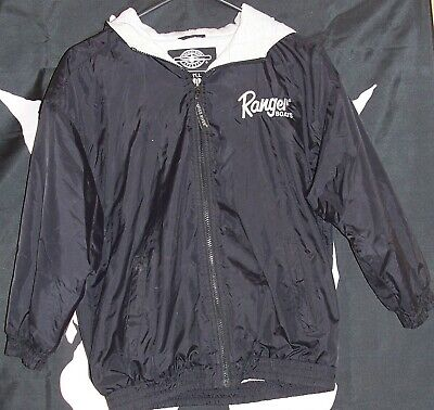 33b70b43c52fd Mens Size Medium Black Ranger Boats Fishing Coat Jacket Hooded Nylon  Boating M