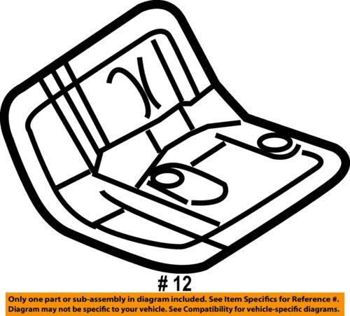 Dodge Chrysler Oem 09 18 Journey Axle Differential Rear Heat Shield