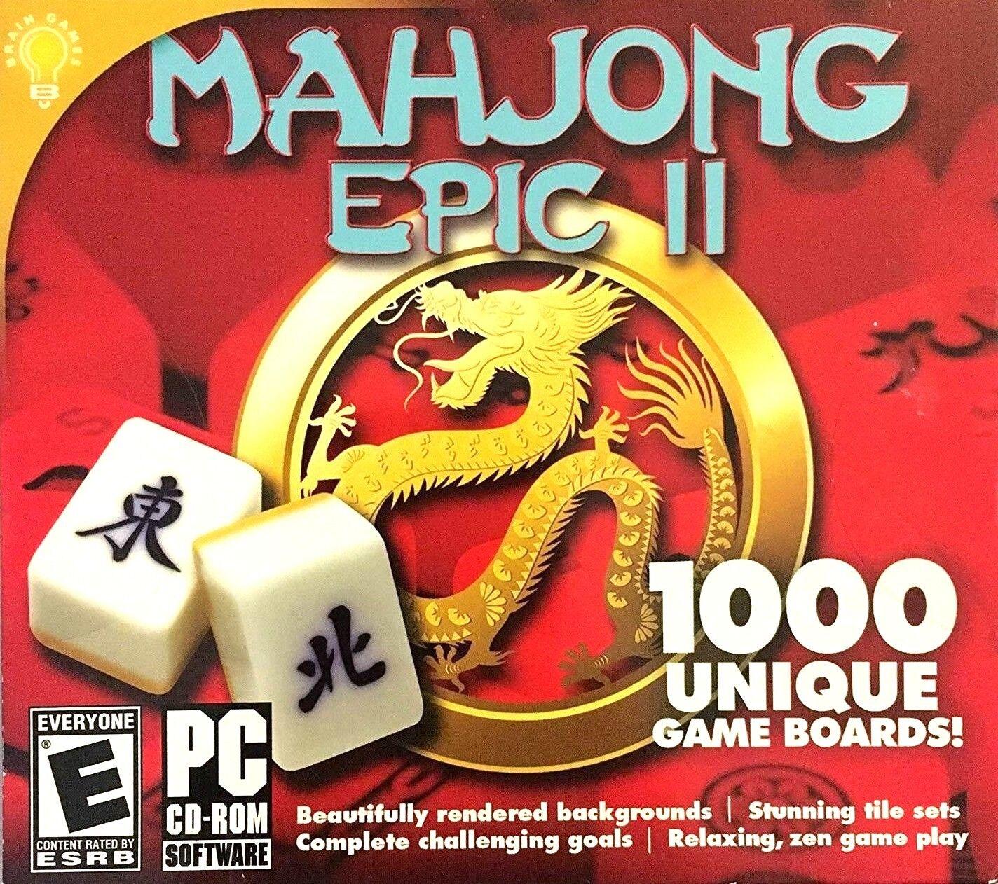 Computer Games - Mahjong Epic II PC Games Windows 10 8 7 XP Computer mah jong epic 2 puzzle