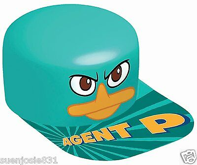 Agent P Kostüm (Disney Phineas and Ferb Agent P Vac Form Hat 1ct Party Favor Costume Accessory)