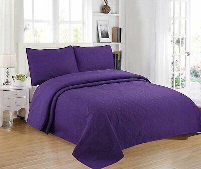 Home Bedding 3-Piece Full/Queen/King Oversize Bedspread Coverlet Bedding Set.