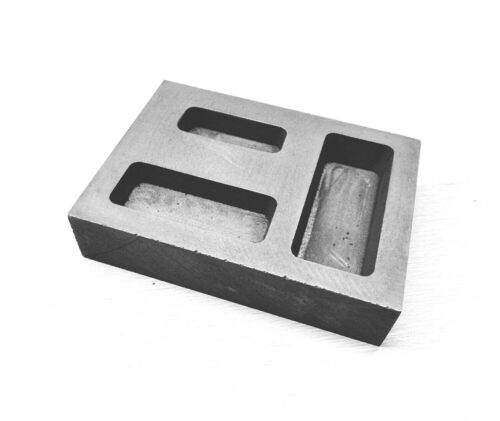 Graphite Ingot 1/4, 1/2 1 oz. Gold Bar Combo Mold Casting Melting Refining Scrap