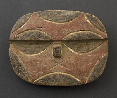 Masquette Mask Pasport African Teke Kidumu Wood 12cm Art Primitive 16662