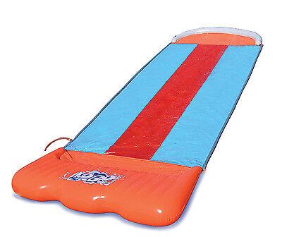 Bestway H2O Go Triple Slider Kids Backyard Outdoor 3-Person Water Slide | 52200E