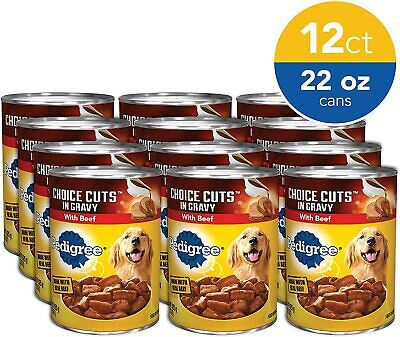 Pedigree Choice CUTS in Gravy Adult Canned Wet Dog Food 22 oz. Cans (Pack of 12)