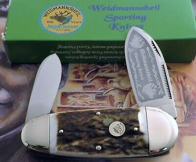 Weidmannsheil AAA+ Genuine Stag Sunfish Knife 2008 Deer Shield 1 of 50 SOLD OUT!