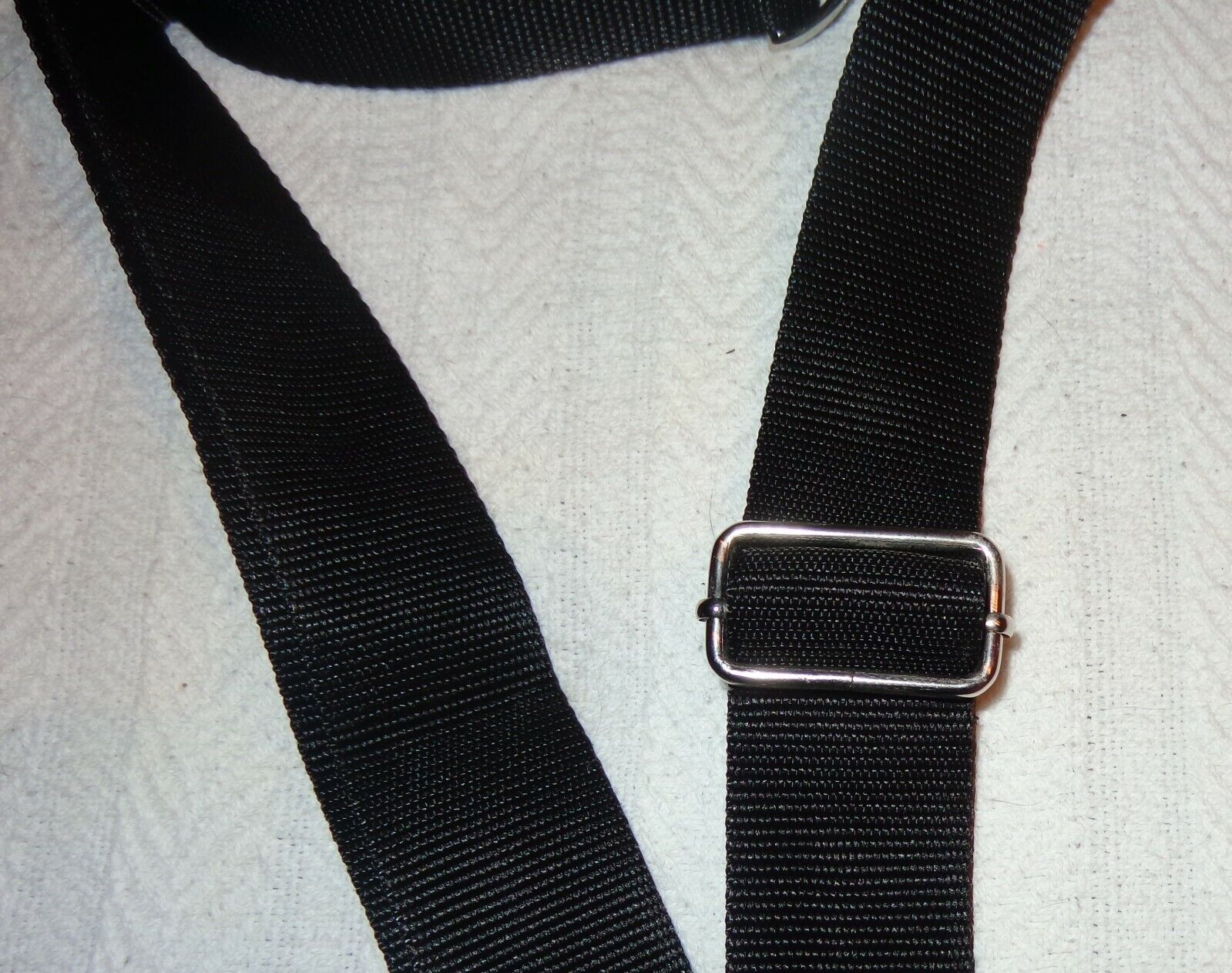 New Black Adjustable Polyester Replacement Shoulder Strap W/ Metal Swivel Hooks - $17.50