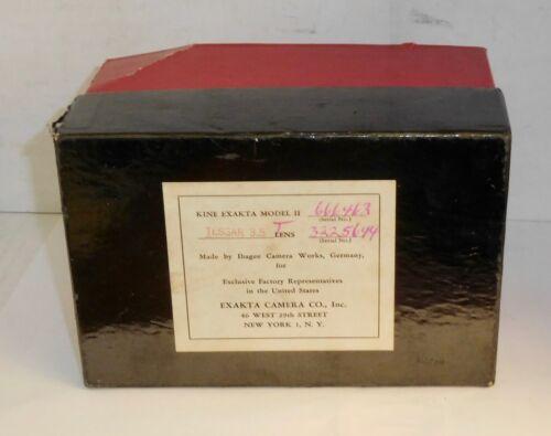 Vintage Kine Exakta Lower Box & Misc Paper Work