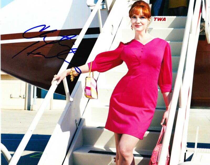 HOT SEXY CHRISTINA HENDRICKS SIGNED 8X10 PHOTO AUTOGRAPH MAD MEN COA