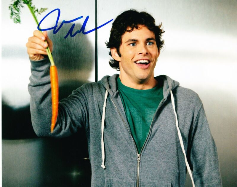 JAMES MARSDEN SIGNED 8X10 PHOTO AUTHENTIC AUTOGRAPH STRAW DOGS HOP ENCHANTED B