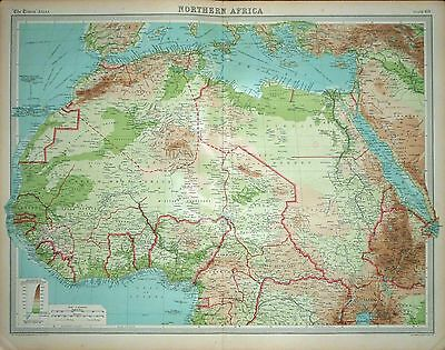 1920 LARGE MAP ~ NORTHERN AFRICA ~ 23