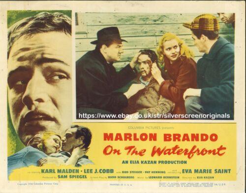 On the Waterfront ORIGINAL US Lobby Card Marlon Brando 1954