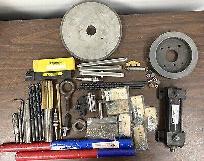 Machinist Tool Lot - Diamond Wheels - Hydraulic Pump - Inserts - Gun Drills