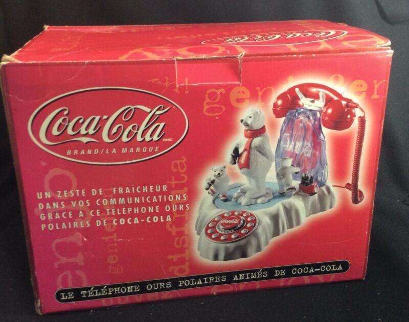 Coca Cola Animated Polar Bear Phone Coke Soda Advertising Telephone NEW