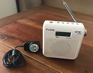 PURE one dab portable radio. White Redland Bay Redland Area Preview