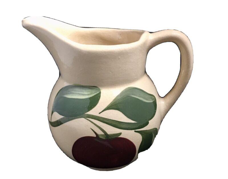 Vintage Watt Pottery Three Leaf Apple # 62 Pitcher Creamer