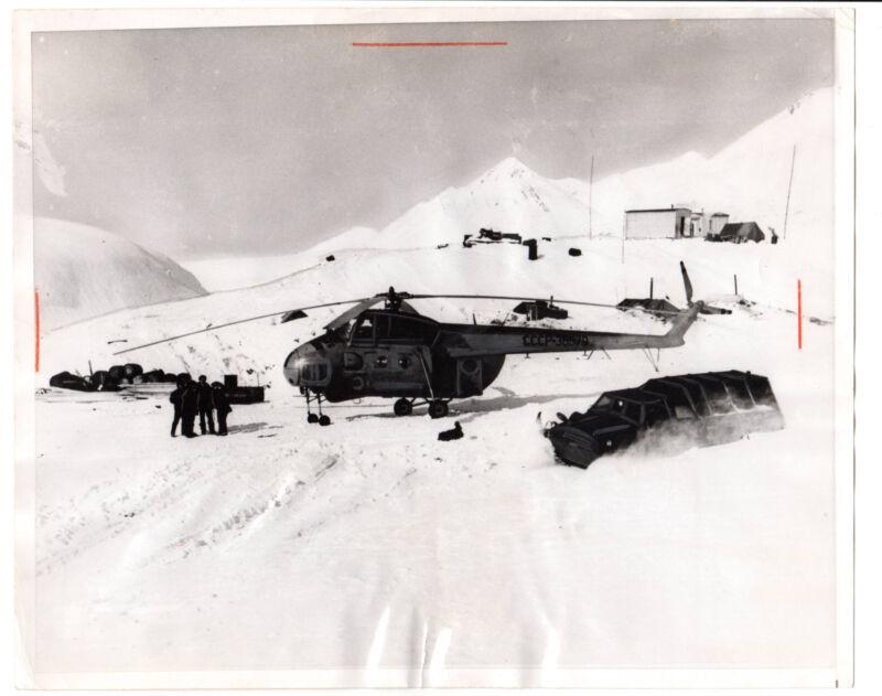 Vintage 1969 Press Photo Soviet Russia Helicopter Chukotka,Siberia Gold mining