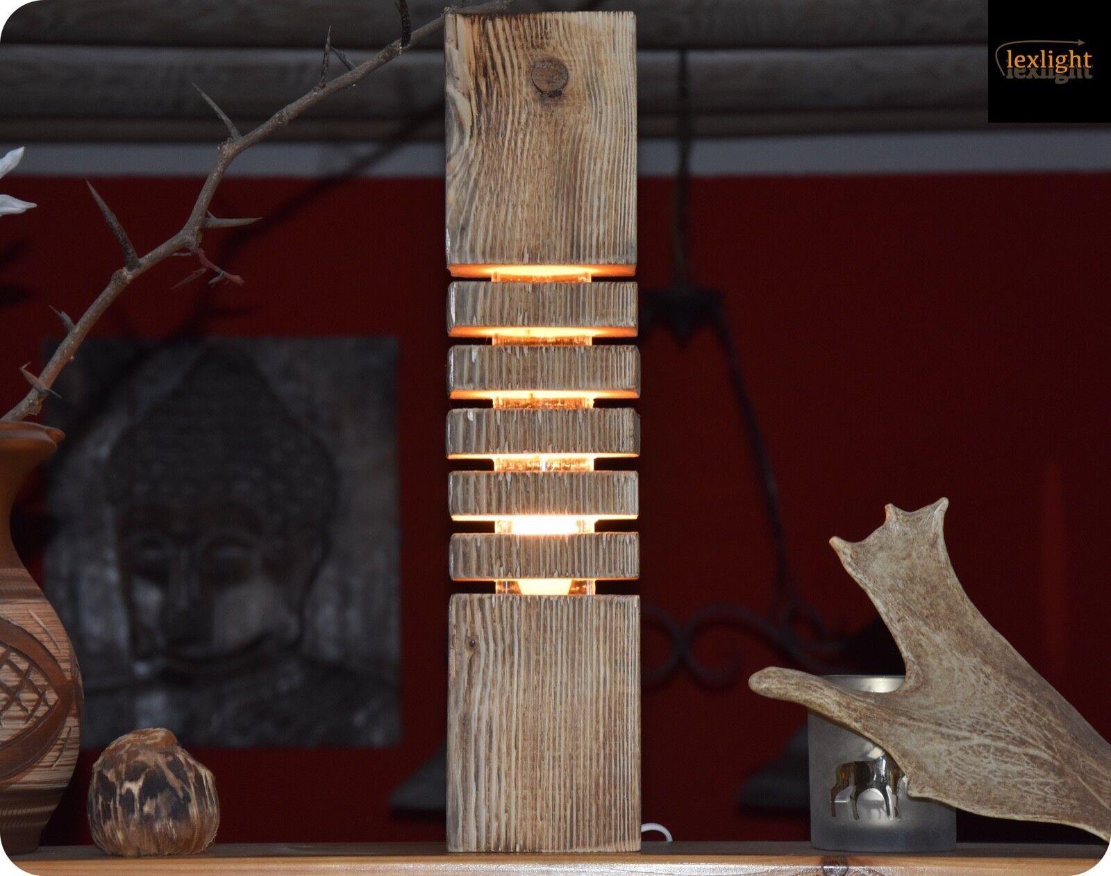 Balkenlampe Schwemmholz Lampe LED Deko Tischlampe Treibholz Designer Leuchte