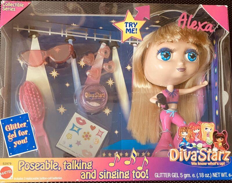 New NIB- Diva Starz Alexa Collectible Series Mattel 2001 Talking Doll Toy Figure