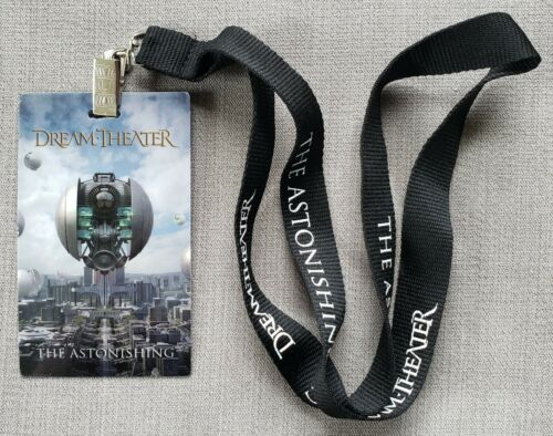Dream Theater 2016 The Astonishing Tour VIP Badge w Lanyard RARE