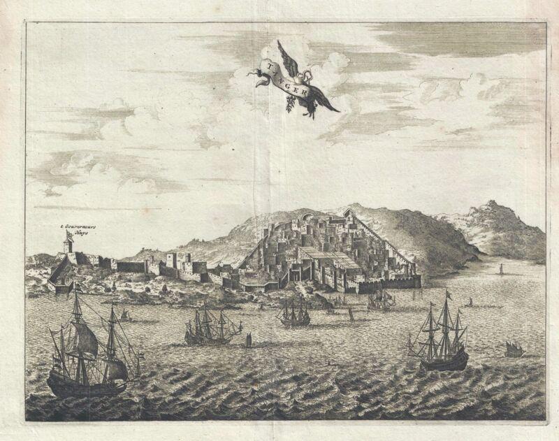 1686 Dapper View of Tangier, Morocco
