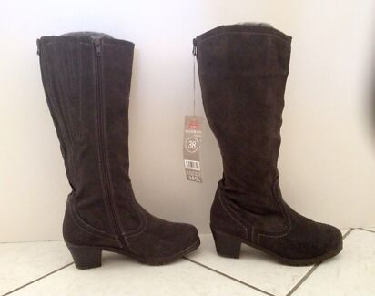 CHARCOAL Faux Suede Knee High Boots *NEW* Manunda Cairns City Preview