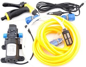 80W 12V High Pressure Water Pump Sprayer Gun Washer Kit Washing Marine Deck Car