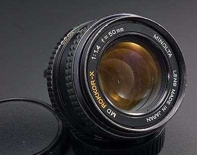 Minolta 50Mm F 1 4 Rokkor X Md Moun Lens  Lubricated And De Clicked For Video