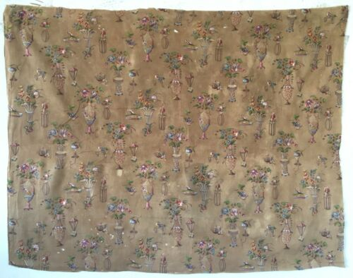 Beautiful Rare Early 19th C. French Cotton Chinoise Fabric  (2909)