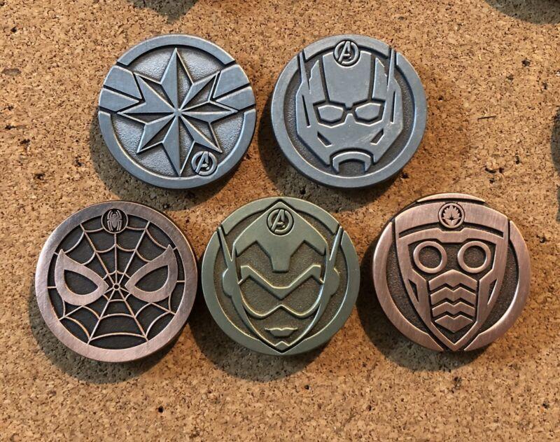 2020 Disney Marvel Icons Series 1 Hidden Disney Pin Set Full set of 5!