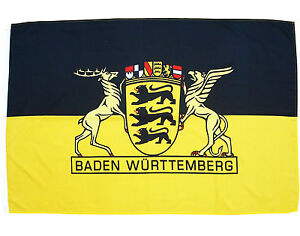 Fahne Baden Württemberg 90 150 cm mit großem Landessiegel Region Baden