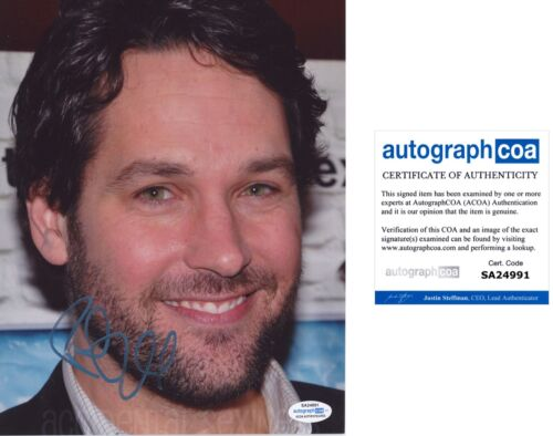 PAUL RUDD signed Autographed 8X10 PHOTO - SEXY Hot I LOVE YOU MAN Ant-Man ACOA
