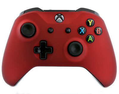 """Give in Touch Red"" Xbox One S Custom Un-Modded Wireless Microsoft Controller"