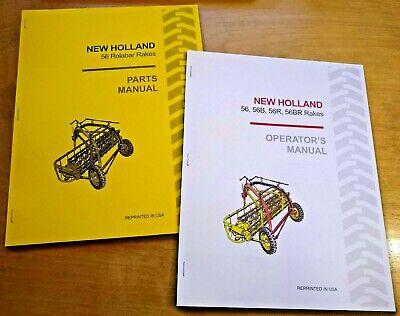 New Holland 56 Rolabar Hay Rake Operators And Parts Manual Catalog Book Sperry