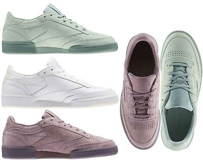 NEW Reebok Women's Club C 85 Leather/Suede Retro Shoes Sneakers Pink White Green