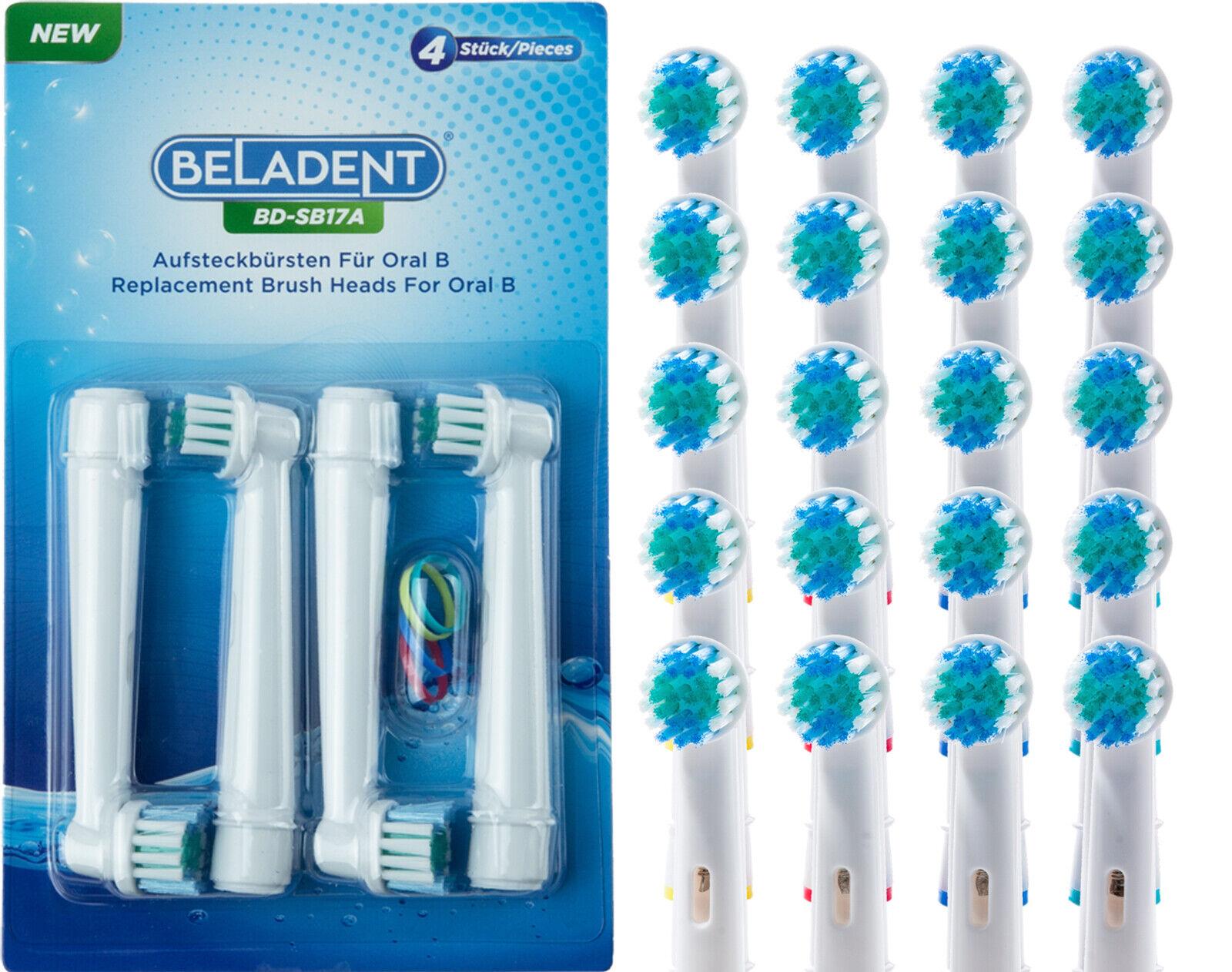 20 x BELADENT Aufsteckbürsten passend für Oral-B Aufsätze Precision Clean