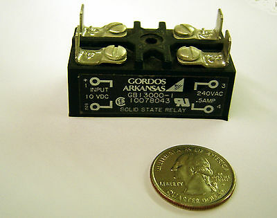 Lot Of 2 Gordos Gb13000-1 Solid State Relay 10 Vdc Input 240vac .5amp Out Ssr