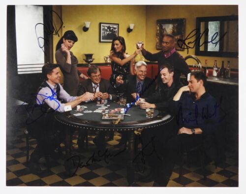 N.C.I.S JSA Cast 7 signatures signed autograph 11x14 photo NCIS