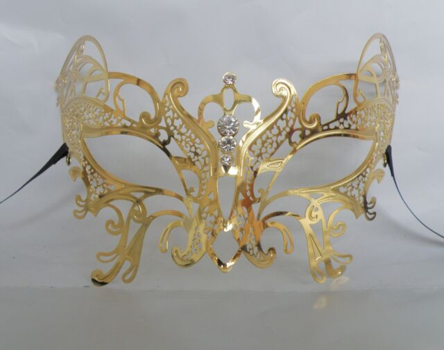 Gold Butterfly Filigree Metal Masquerade Mask * NEW * Express Post Available
