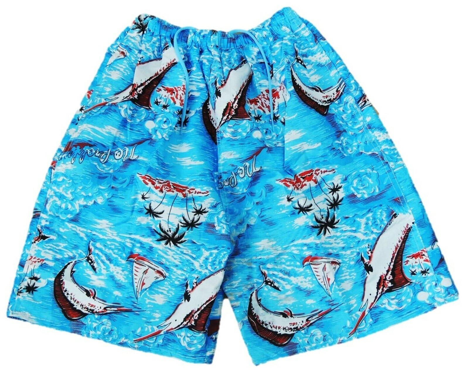 Jungen lange Badehose Badeshorts Shorts Hose Größe 158 164 170 176 182 188 (1)