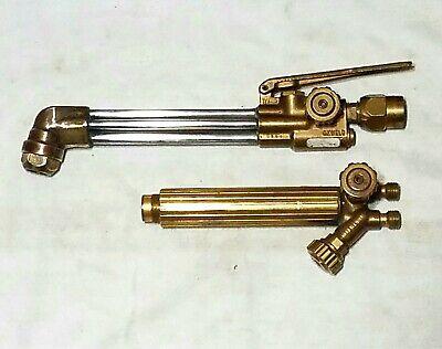 Oxweld Cutting Welding Torch Set Cw-23 Attachment Head W-17 Handle Body Esab