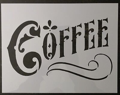 "Coffee Home Kitchen Decor 8.5"" x 11"" Sheet Custom Stencil FAST FREE SHIPPING"