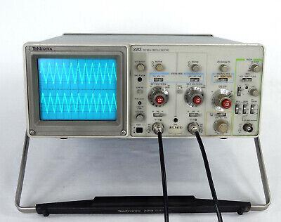 Tektronix 2213 60mhz Oscilloscope - Probes. Manuals Cover Excellent Copndition